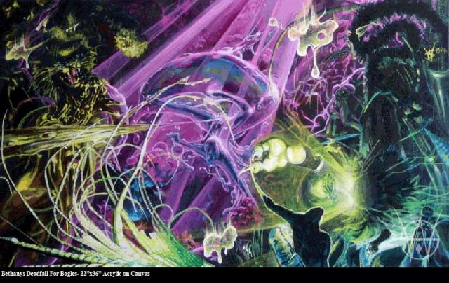 Bethany's Deadfall for Bogles-22'x36' acrylic on canvas