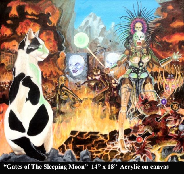 Gates of the Sleeping Moon-14'x18' acrylic on canvas