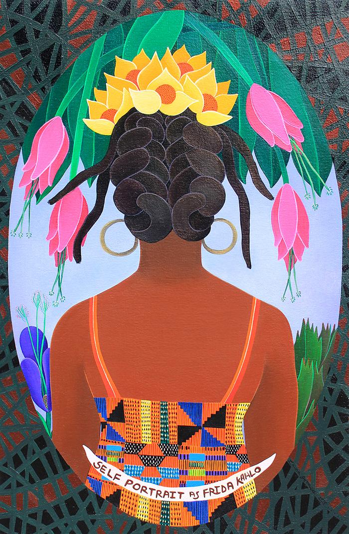self-portrait-as-frida-khalo-2015-acrylic-on-canvas-17-x-25-collection-denise-pierce-1